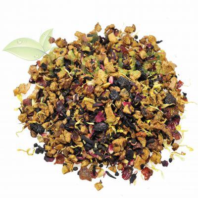 Чай з вишнею ягідний (ацерола, чорнобривці, бузина, гібіскус, шипшина)