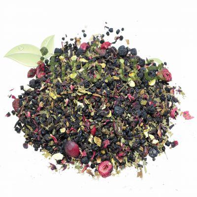 Чай вітамінний (аронія, бузина, гібіскус, ожина, мигдаль, чорниця)
