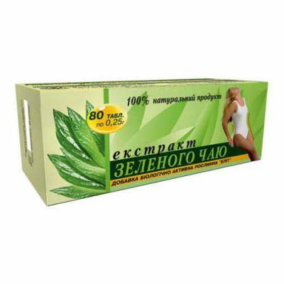 Натуральний екстракт зеленого чаю в пігулках