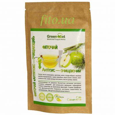 Фіточай з очищувальних трав, листя, хвої, яблучного пектину