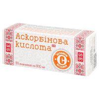 Аскорбінова кислота Вітамін Ц (С) пігулки по 500 мг. 50 шт.