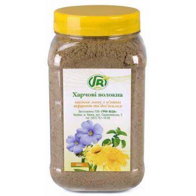 Клітковина насіння льону з м'ятою і оманом є сорбентом