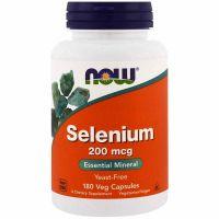 Селен, 200 мкг, 180 капсул, Now Foods