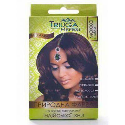Природна фарба для фарбування волосся Мокко