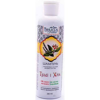 Шампунь для фарбованого волосся з Тулса і хною - Натуральна косметика на травах