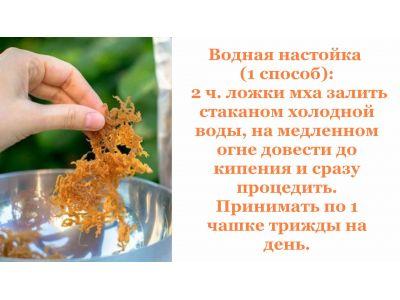 Ісландський мох - цетрария інструкція